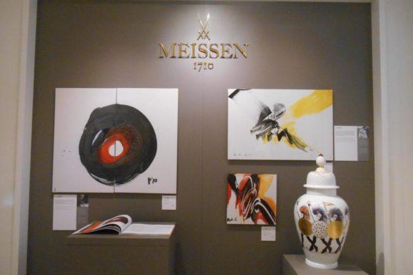Porzellanreisen Meissen Museum Wanddeko 2